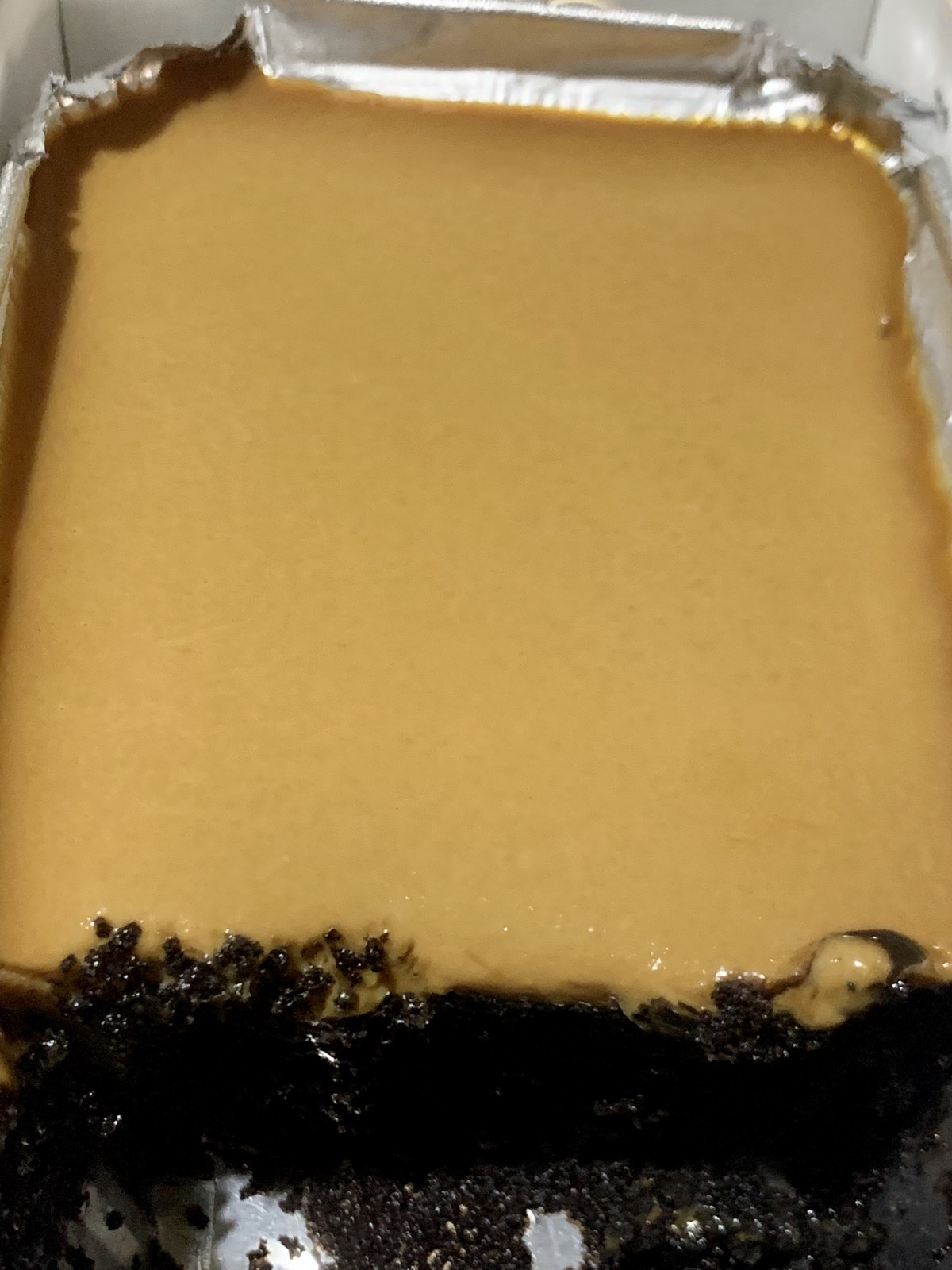 Big Al's chocolate cake with caramel topping.