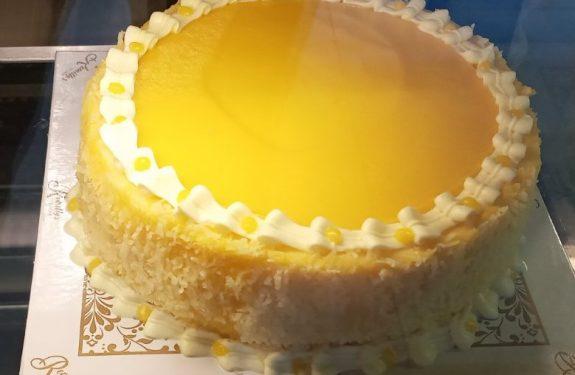 A round yema cake