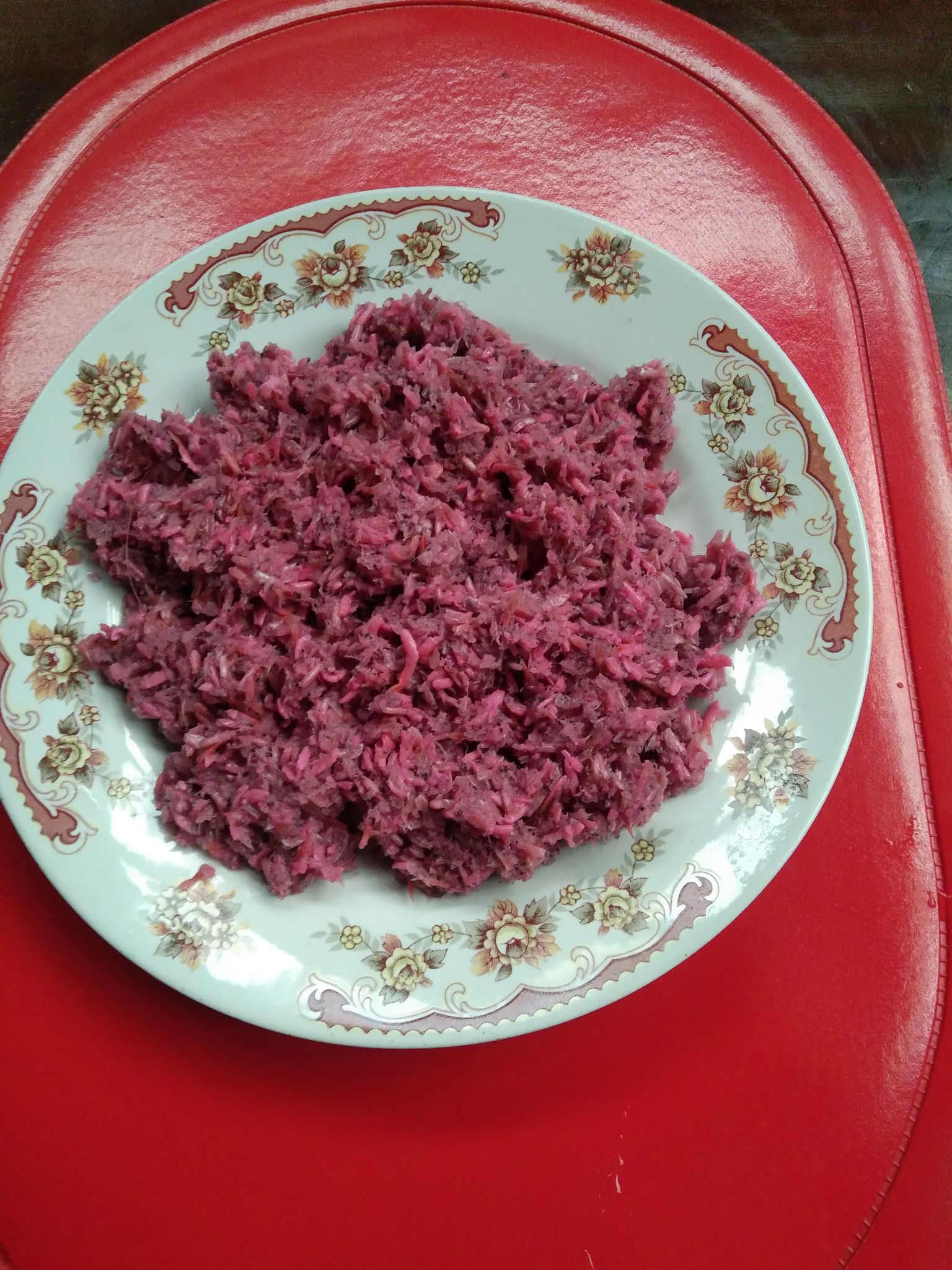 Bagoong on a plate