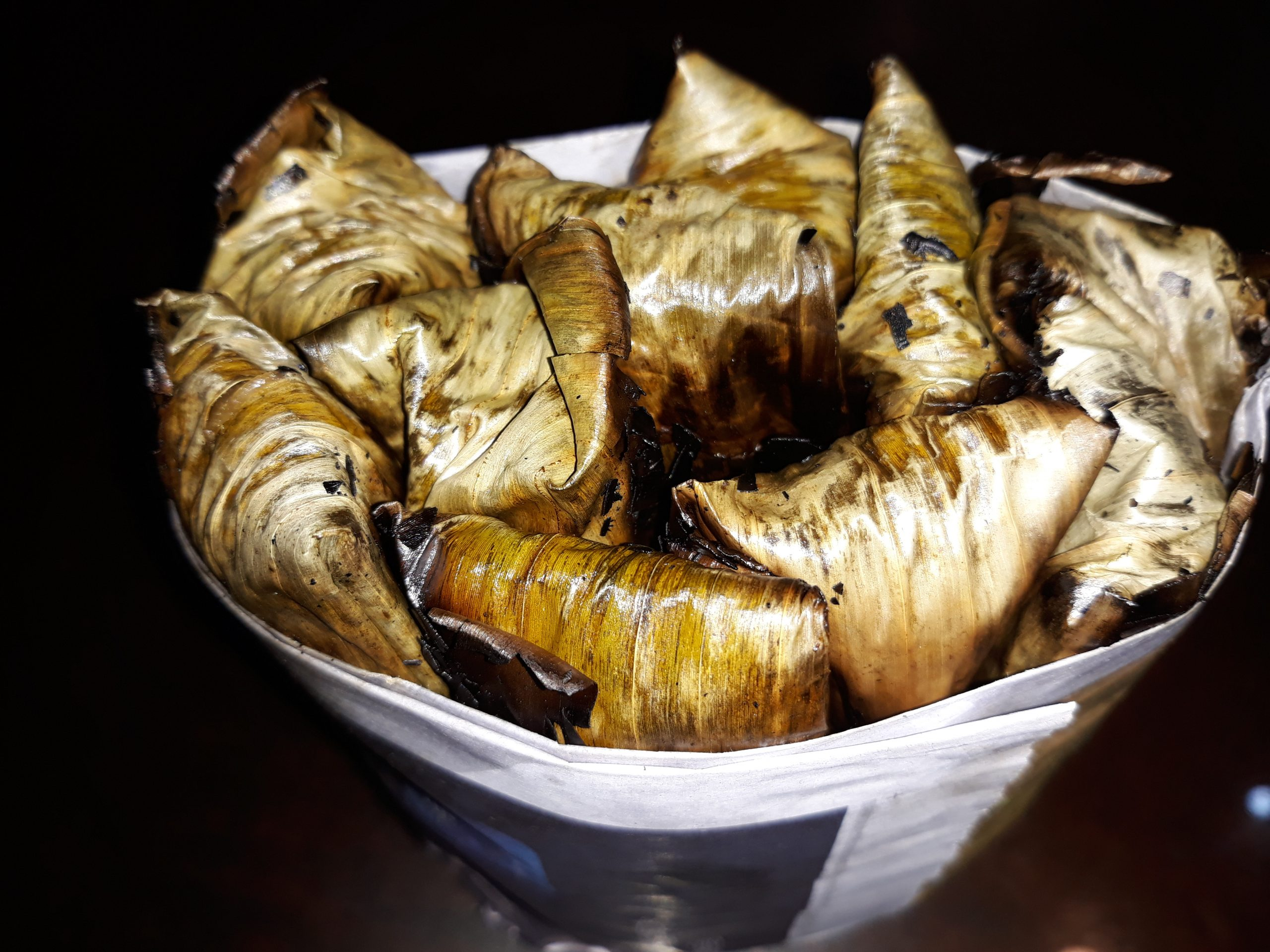 A bundle of tupig.