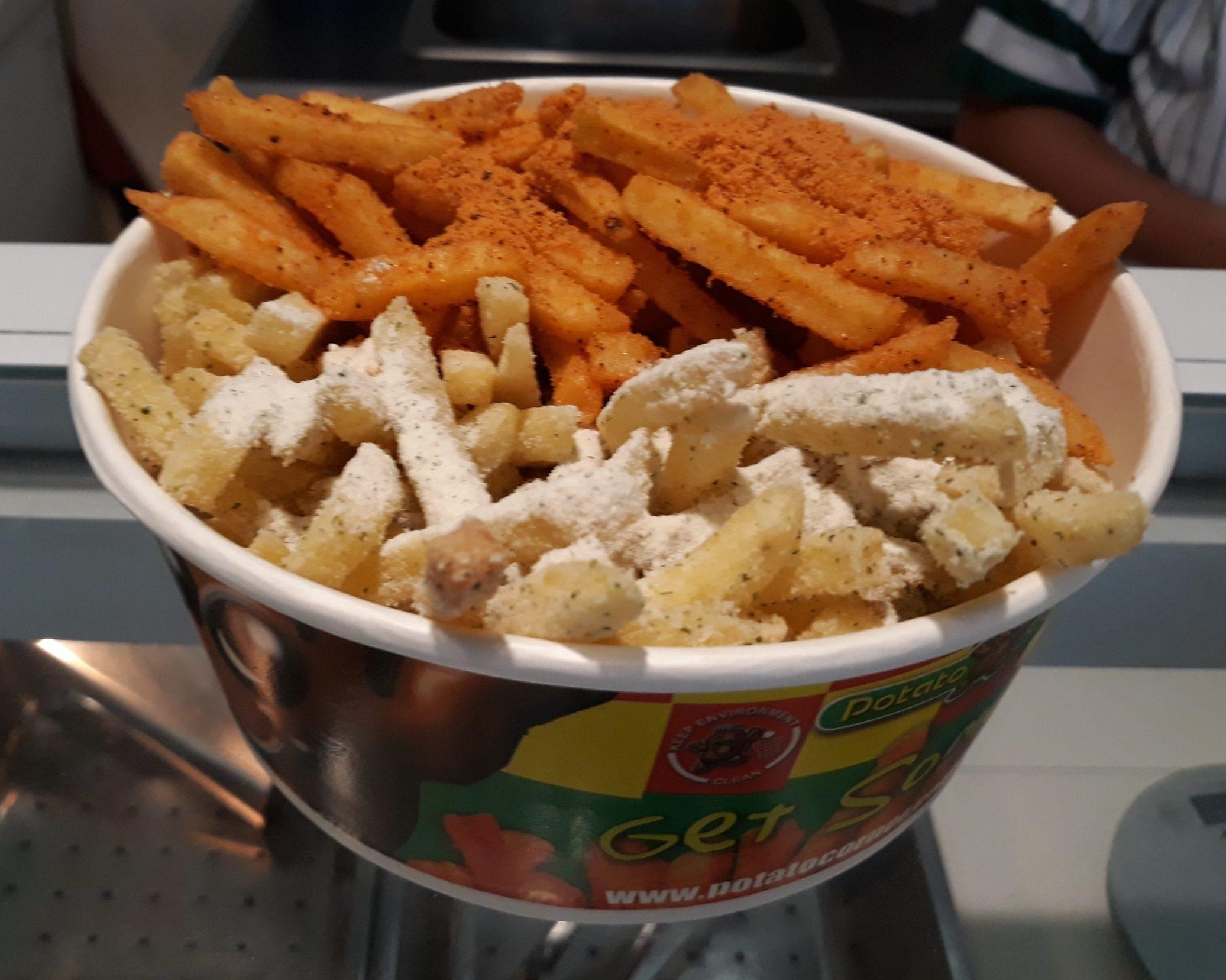 Yummy Potato Corner Fries up close.
